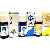 GK NATURALS Anti Acne Face Oil - ( For Reducing Acne & Pimples) -Premium Aroma Essentials Combo - Pack Of 3 (Lemon...