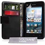 Huawei Ascend Y300 Case PU Leather Wallet Cover