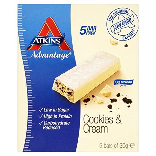 atkins-advantage-cookies-cream-barres-5-x-30g