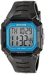 Sonata Sonata Touch Screen Digital Grey Dial Mens Watch - 77048PP04