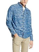 Lee Camisa Hombre Camo (Azul)