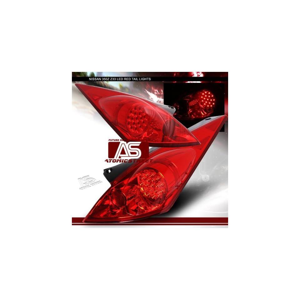 Nissan 350Z Led Tail Lights JDM Red LED Taillights 2003 2004 2005 03 04 05