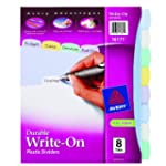 Avery  Translucent Durable Write-On P...