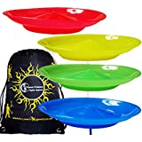 Spinning Plates Set of 4 + Travel BAG / Flames N Games Kid Safe Spinning Plate Set