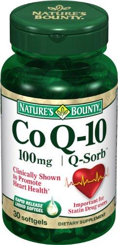 Nature's Bounty CoQ 10, 100mg, 30 Softgels
