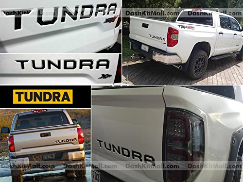 Toyota Tundra 2014 2015 2016 2017 Rear Tailgate Letter Insert Not Decals - Black (Toyota Tundra Black Bumpers compare prices)