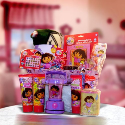 Get Well, Birthday Gift Baskets Dora the Explorer Ultimate Preschool Graduation Gift Basket for Kids Under 10