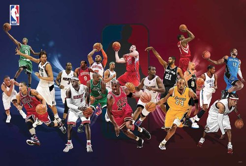 J-4544 NBA All star - Kobe Bryant, Lebron James, Chris Paul, Allen Iverson - Basketball, Sport, NBA Collections,decorative Poster Print Vintage New
