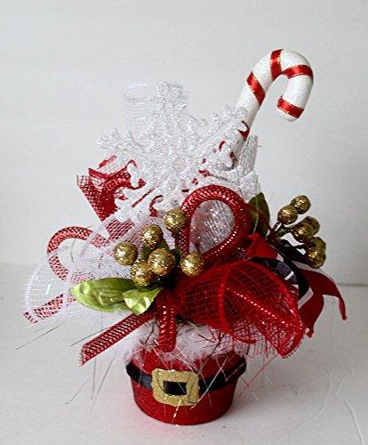 Christmas table centerpiece, Santa belt, Holiday Table Décor, Small Christmas Arrangement, floral arrangement, party decor, hostess gift (Holiday Table Centerpieces compare prices)