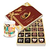 Classic Collection Of Dark And Milk Chocolate Box With Birthday Mug - Chocholik Belgium Chocolates