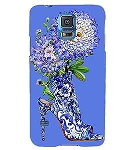 FLORAL SHOE DESIGN SHOWING THE BEAUTY OF NATURE 3D Hard Polycarbonate Designer Back Case Cover for Samsung Galaxy S5 Mini :: Samsung Galaxy S5 Mini G800F