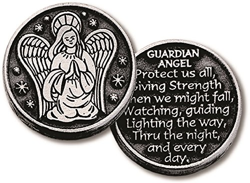 Inspirational Pocket Pewter Tokens 12 Pack Double Sided (Guardian Angel) (Double Sided Angel Coin compare prices)