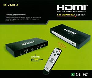 PTC DigiView 4-Port HDMI 1.3 Certified switch with IR Remote Control