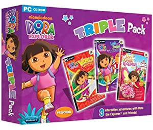 Dora The Explorer Triple Pack; Includes Dora saves the Crystal Kingdom, Dora's Lost & Found Adventure & Dora's World Adventure (PC)