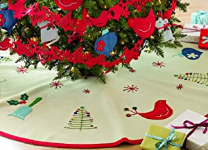 "Tag Happy Holidays 52"" Felt Tree Skirt"