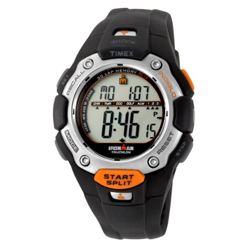 Timex Men'S T5F821 Ironman Traditional Shock 30-Lap Black Resin Strap Watch front-631186