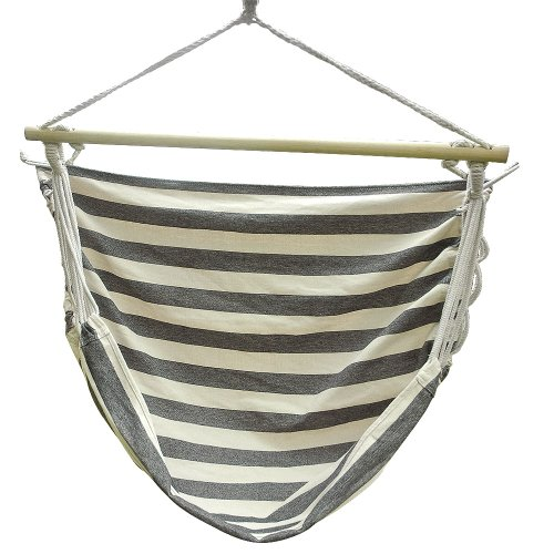 BEIYI Y8804 Multicolored Stripe Camping Hammock Hang Bed hanging chair 100x140cm with stabiliser Plug Hook