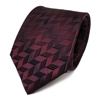 Cravate à motifs - bordeaux pourpre violet - pure soie