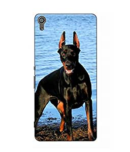 Make My Print Dog Printed Multicolor Hard Back Cover For Sony Xperia XA Dual