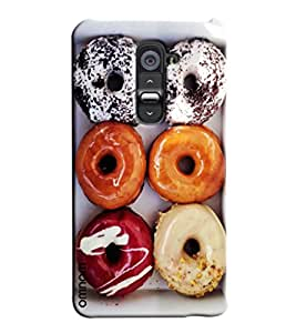 Omnam Donuts With Different Flavour Printed Designer Back Case For Moto G2