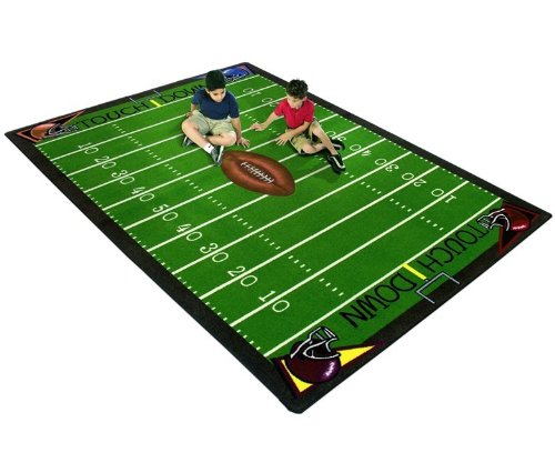 Joy Carpets Football Fun Kids Area Rug Size - 10 ft. 9 in. x 13 ft. 2 in.