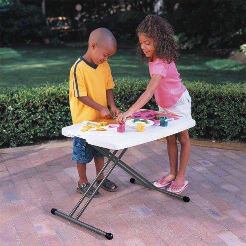Garantía de por mesa Personal con 30-by-20-cm en la parte superior moldeada, blanco