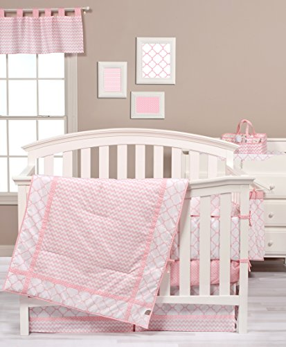 Trend Lab Pink Sky 3 Piece Crib Bedding Set - 1