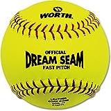 Worth ASA NFHS 12 in. Dream Seam Fastpitch Softballs - 1 Dozen by Worth