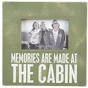 """Memories Are Made at the Cabin"" - Painted Wood Frame"