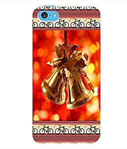 ColourCraft Christmas Bells Back Case Cover for APPLE IPHONE 5C