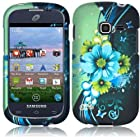 Samsung S738c S738 c Galaxy Centura Straight Talk Sublime FLOWER HARD RUBBERIZED CASE SKIN COVER PROTECTOR