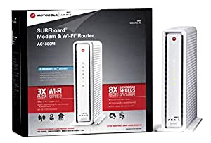 ARRIS SURFboard SBG6782AC DOCSIS 3.0 Cable Modem/ Wi-Fi AC1750 Router - Retail Packaging - White