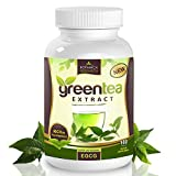 #1 Pure Green Tea Extract, with EGCG Anti-Aging Antioxidant- 500mg: 180 Capsules (75% Polyphenol Catechins) - Top Natural Thermogenic Fat Burner for Men and Women Burns Belly Fat Fast - Among The Best Weight Loss Supplement Pills That Work Quick Without Side Effects - Increase Energy, Get a Flatter Stomach - Don't Waste Money on Expensive Diet Products or Progams, Or Unproven Supplements & Fat Burners - Satisfaction Guaranteed