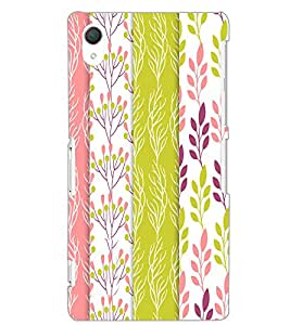 SONY XPERIA Z2 LEAFES PATTERN Back Cover by PRINTSWAG