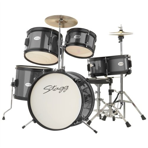 Rocket by Stagg Junior Drum Kit 5 Piece in Black