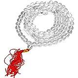 Ankita Gemstones Original Crystal Quartz Necklace Mala