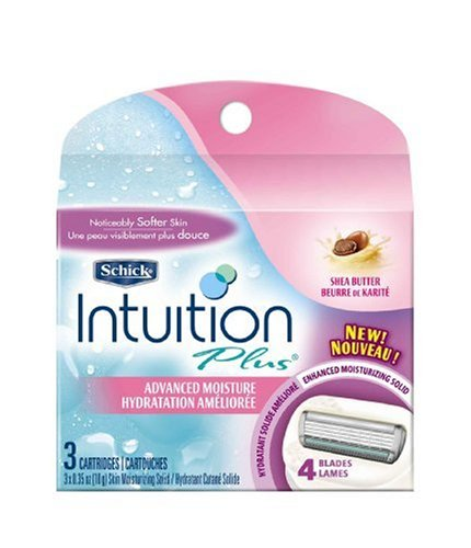 Schick Intuition Plus Advanced Moisture with Shea Butter, 3 Cartridges (Pack of 2)