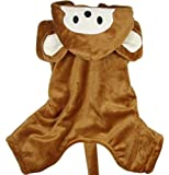 Cheeky Monkey Overalls Pet Dog Puppy Cat Kitty Fashion Clothes Coat Pet Apparel M