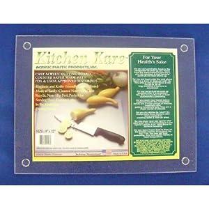 Acrylic Plastic Products Cutting Board, 9-Inch by 12-Inch