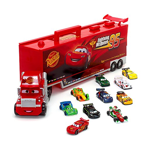 Disney Pixar Cars Talking 60cm Mack con auto pressofuso Set