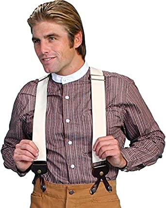 Victorian Men's Accessories – Suspenders, Gloves, Cane, Pocket Watch, Spats Canvas Suspenders $42.78 AT vintagedancer.com