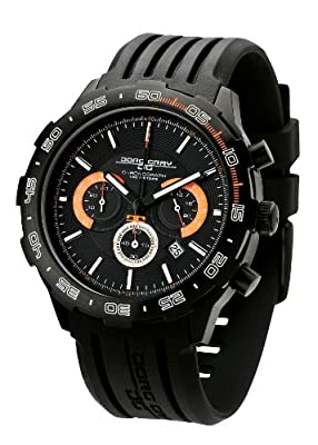 Jorg Gray 1600 Chronograph Black/Orange Watch