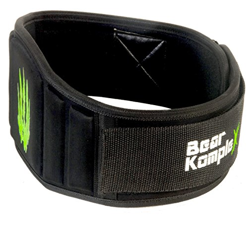 Bear KompleX Weightlifting belt for Powerlifting, Crossfit, Squats, Weight Training and more. Low profile velcro with super firm back for maximum stability and exceptional comfort. Easily Adjustable