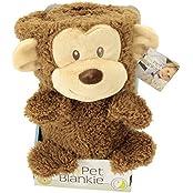 My Pet Blankie Original Monkey Plush, One Color, One Size