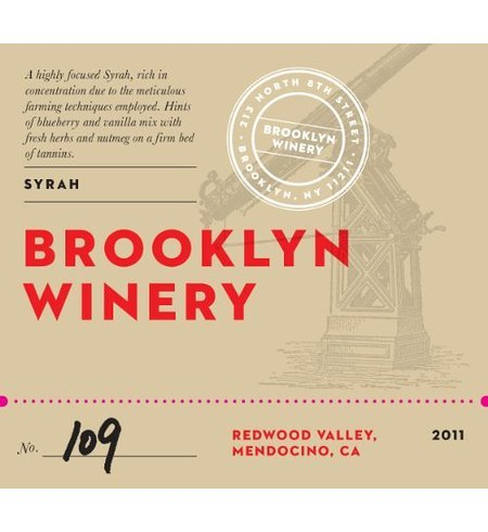2011 Brooklyn Winery Syrah 750 Ml