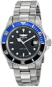 Invicta Men's ILE9937OBASYB Pro Diver Analog Display Swiss Automatic Silver Watch