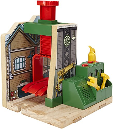 Fisher-Price Thomas the Train Wooden Railway Steamworks Lift and Repair Train Set - 1