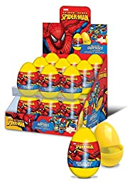 3 Spider-Man Plastic Surprise Eggs with Candy, Sticker, and Spider-Man Surprise