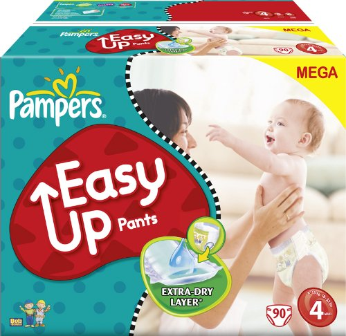 Pampers Easy Up couches culottes Taille 4 Maxi