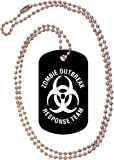 Zombie Outbreak Response Team Black Dog Tag with Neck Chain